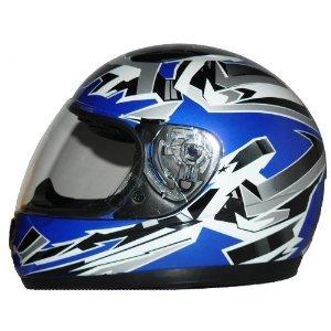 Motorrad Kinderhelm - SA03 & Sturmhaube in Blau
