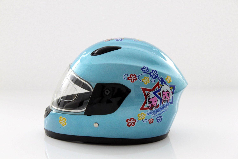 Kinderhelm Motorradhelm Blau L Burn-T03
