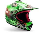 ARMOR HELMETS AKC-49 'Green' · Kinder-Cross-Helm · Motorrad-Helm MX Cross-Helm MTB BMX Cross-Bike Downhill Off-Road Enduro-Helm Moto-Cross Sport Pocket-Bike · DOT Schnellverschluss Tasche S (53-54cm)