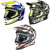 RK-652 Kinder Crosshelm Endurohelm Motorradhelm Roller Quad Helm Kinderhelm, Größe:XXS (51-52), Farbe:White Storm