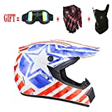 Helm Safe Full Face Classic Fahrrad MTB Dh Racing Helm Motocross Downhill Fahrradhelm Capacetes Motocross, für Erwachsene Jugend Junior Kinder Kinder,Black,S(55~56CM)