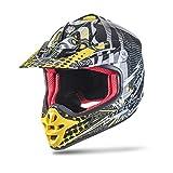 NENKI NK-303 Kinder Motocross Offroad Helm Für Kinder Dirt Bike (XS 53-54CM, Schwarz Gelb)