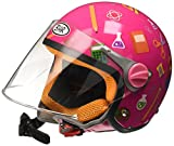 BHR 94103 Motorrad Helm Kid 713, Hellblau, 53/54