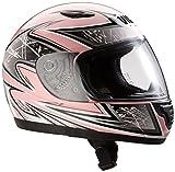 Protectwear SA03-PK-XXS Kinder Motorradhelm, Integralhelm, Größe XXS (Youth M), Pink/Silber