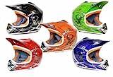 MATT Helm Kinderhelm Motorradhelm Crosshelm Motocrosshelm Sport (Blau, XS)