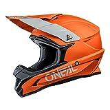 O'NEAL   Motocross-Helm   MX Enduro Motorrad   ABS-Schale, Sicherheitsnorm ECE 22.05, Lüftungsöffnungen für optimale Belüftung und Kühlung   1SRS Helmet Solid   Erwachsene   Orange   Größe M