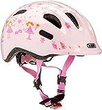 ABUS Smiley 2.0 Kinderhelm - Robuster Fahrradhelm für Mädchen und Jungs - 72564 - Rosa mit Prinzessinnen-Muster, Größe S