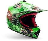 ARMOR Helmets AKC-49 Kinder-Cross-Helm, Schnellverschluss Tasche, L (57-58cm), Grün
