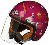 BHR 94121 Motorrad Helm Kid 713, Fantasie Schule Fuchsia, 53/54