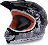 Actionbikes Motors Motorradhelm Kinder Cross Helme Sturzhelm Schutzhelm Helm für Motorrad Kinderquad und Crossbike in schwarz (Medium)