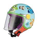 BHR 94107 Motorrad Helm Kid 713, Motiv Eule, 49/50