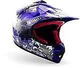 """armor HELMETS® AKC-49 """"Blue"""" · Kinder Cross-Helm · Motorrad-Helm MX Cross-Helm MTB BMX Cross-Bike Downhill Off-Road Enduro-Helm Moto-Cross Sport · DOT Schnellverschluss Tasche M (55-56cm)"""