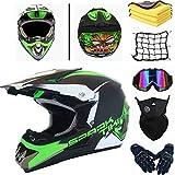 AGVEA Motocross-Helm mit Schutzbrille, crosshelm kinder,Unisex, fullface helm,enduro helm,crosshelm mit brille,downhill helm kinder,Quad Enduro, ATV, Motorrad und Motorrad (M)