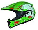 Kids Pro Kinder Crosshelm Grün Größe: XXS 51-52cm Kinderhelm Kinder Cross BMX MX Enduro Helm