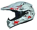 ATO-Helme Kids Pro Kinderhelm Crosshelm Schutzhelm Motorradhelm Quadhelm Kinder Cross BMX Helm (S 55/56cm, Weiß)