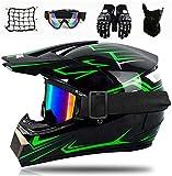 SYANO Jugend Kinder Dirt Bike Helme, Sturzhelm Schutzhelm, Enduro helme,Motocross Fahrradhelm Vier Jahreszeiten universal,für Downhill Bike ATV BMX (L)