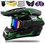 SYANO Kinder Crosshelm Kinder Motorradhelm Fullface Fahrrad Helm D.O.T Zulassung Integralhelm abnehmbar,Für Downhill Bike ATV BMX (S)