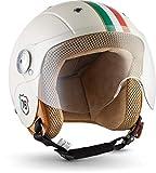 "Soxon® SK-55 ""Imola"" · Kinder Jet-Helm · Motorrad-Helm Kinder-Helm Roller-Helm Kids Scooter-Helm Vespa Bobber Mofa-Helm Chopper Retro · ECE 22.05 Visier Schnellverschluss SlimShell Tasche XS (51-52cm)"