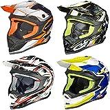RK-652 Kinder Crosshelm Endurohelm Motorradhelm Roller Quad Helm Kinderhelm, Größe:XXS (51-52), Farbe:Black Coolplay